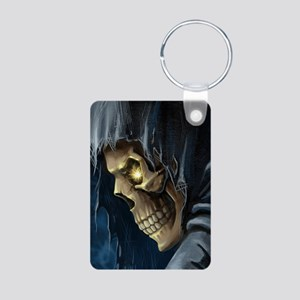 Grim Reaper Aluminum Photo Keychain