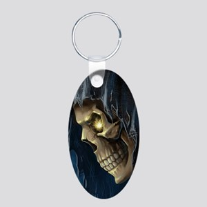 Grim Reaper Aluminum Oval Keychain