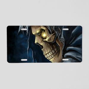 Grim Reaper Aluminum License Plate