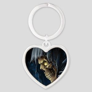 Grim Reaper Heart Keychain