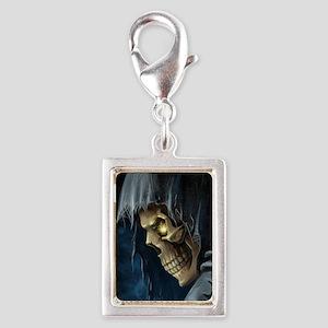 Grim Reaper Silver Portrait Charm