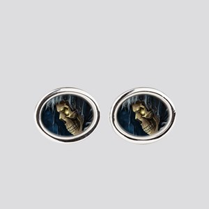 Grim Reaper Oval Cufflinks