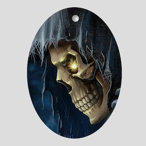 Grim Reaper Oval Ornament