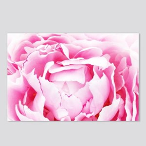 chic pastel pink peony Postcards (Package of 8)