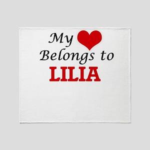 My heart belongs to Lilia Throw Blanket