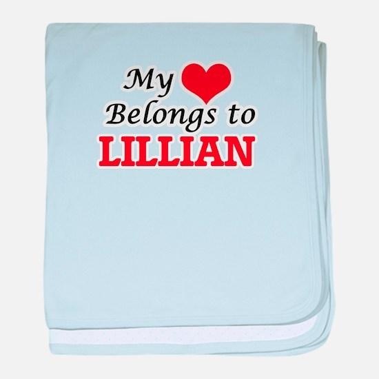 My heart belongs to Lillian baby blanket