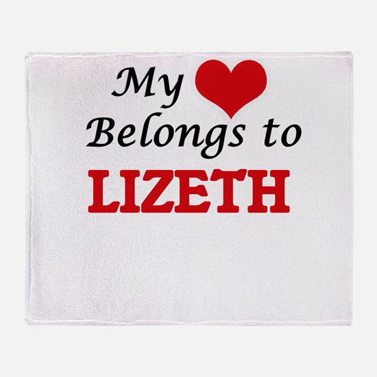 My heart belongs to Lizeth Throw Blanket