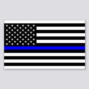 Police: Black Flag & The Thin Blue Line Sticker