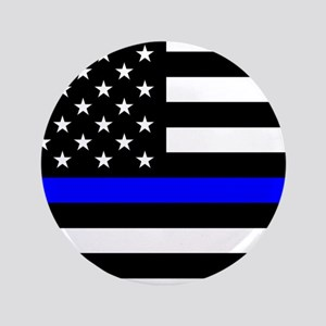 Police: Black Flag & The Thin Blue Line Button