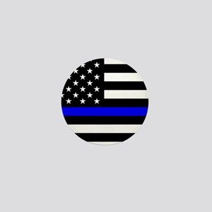 Police: Black Flag & The Thin Blue Line Mini Butto
