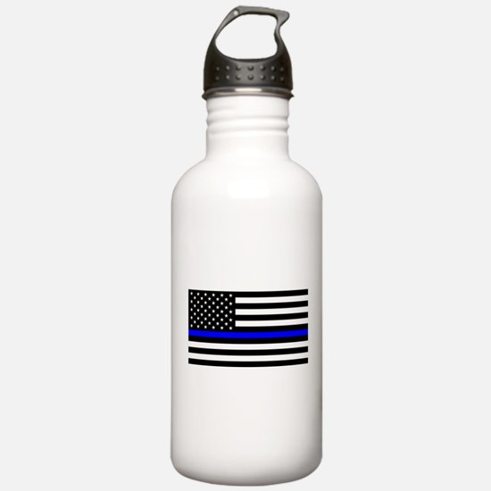 Police: Black Flag & The Thin Blue Line Water Bott