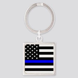 Police: Black Flag & The Thin Blue Line Keychains