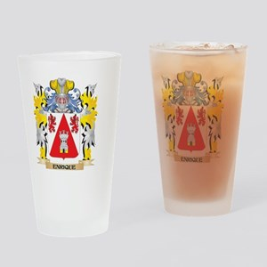Enrique Coat of Arms - Family Crest Drinking Glass