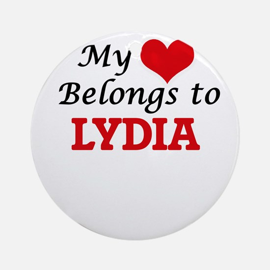 My heart belongs to Lydia Round Ornament