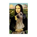 Mona / Great Dane Sticker (Rectangle)