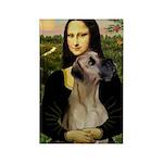 Mona / Great Dane Rectangle Magnet