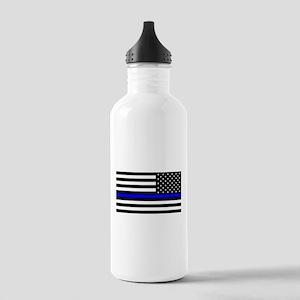 Police: Black Flag & The Thin Blue Line Water Bott
