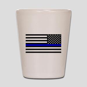 Police: Black Flag & The Thin Blue Line Shot Glass