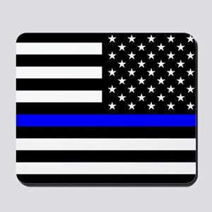 Police: Black Flag & The Thin Blue Line Mousepad