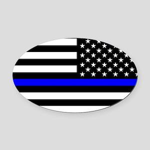 Police: Black Flag & The Thin Blue Line Oval Car M