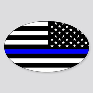 Police: Black Flag & The Thin Blue Line Sticker