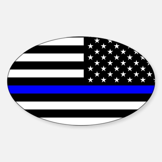 Police: Black Flag & The Thin Blue Line Decal