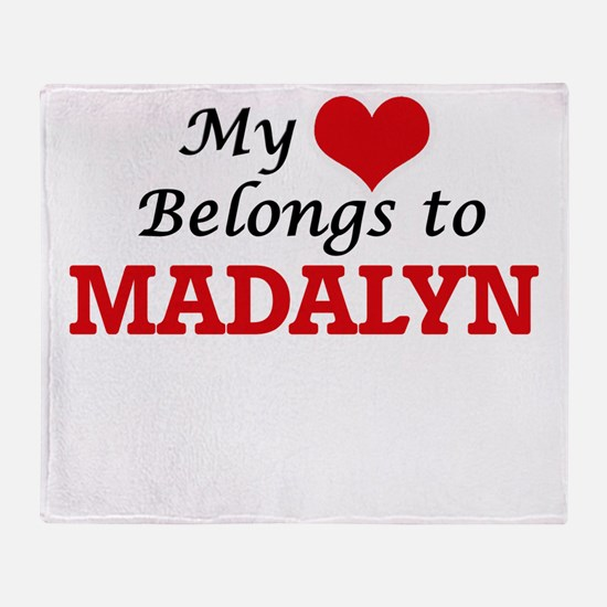 My heart belongs to Madalyn Throw Blanket