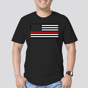 Firefighter: Black Fla Men's Fitted T-Shirt (dark)