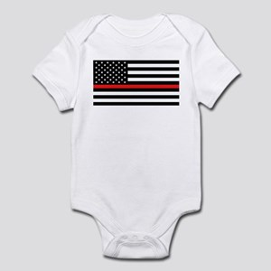 Firefighter: Black Flag & Red Line Infant Bodysuit