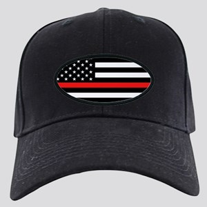 Firefighter: Black Flag & Red Line Black Cap
