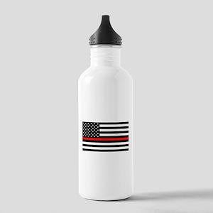 Firefighter: Black Fla Stainless Water Bottle 1.0L