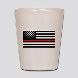 Firefighter: Black Flag & Red Line Shot Glass