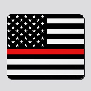 Firefighter: Black Flag & Red Line Mousepad