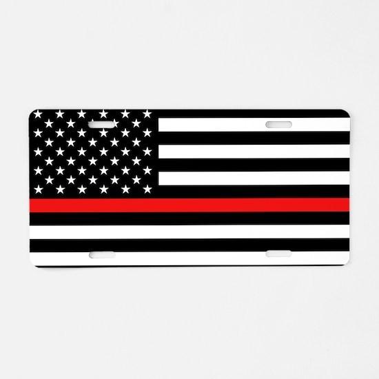 Firefighter: Black Flag & R Aluminum License Plate