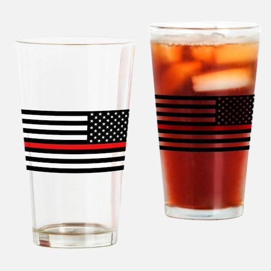 Firefighter: Reverse Black Flag & R Drinking Glass