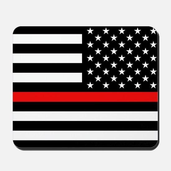 Firefighter: Reverse Black Flag & Red Li Mousepad