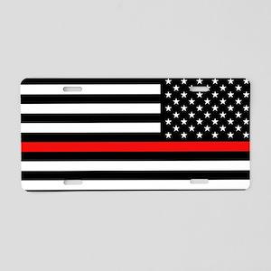 Firefighter: Reverse Black Aluminum License Plate