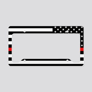 Firefighter: Reverse Black Fl License Plate Holder