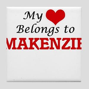 My heart belongs to Makenzie Tile Coaster