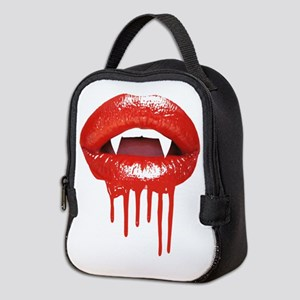 Gothic Halloween Vampire Lips Neoprene Lunch Bag