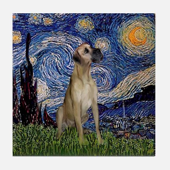 Starry / Great Dane Tile Coaster