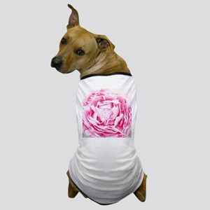 chic floral pink peony Dog T-Shirt