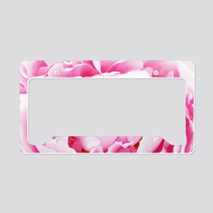 chic floral pink peony License Plate Holder