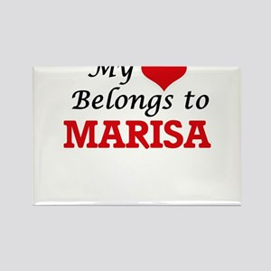 My heart belongs to Marisa Magnets