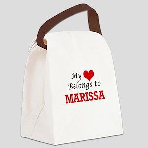 My heart belongs to Marissa Canvas Lunch Bag