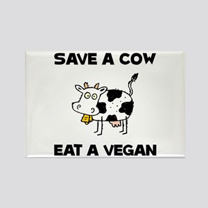 Save Cow Vegan Magnets