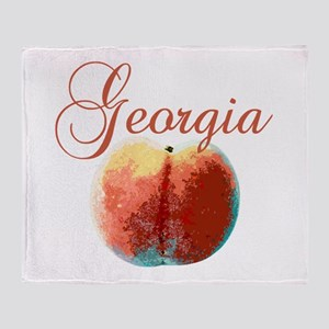 Georgia Peach Throw Blanket