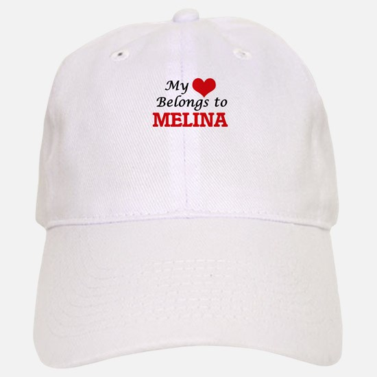 My heart belongs to Melina Baseball Baseball Cap