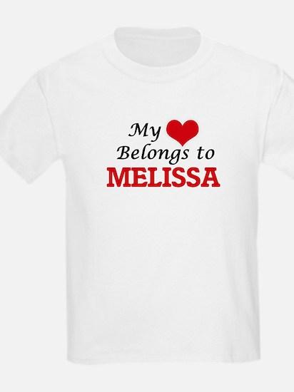 My heart belongs to Melissa T-Shirt
