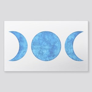 Distressed Moon Symbol Sticker